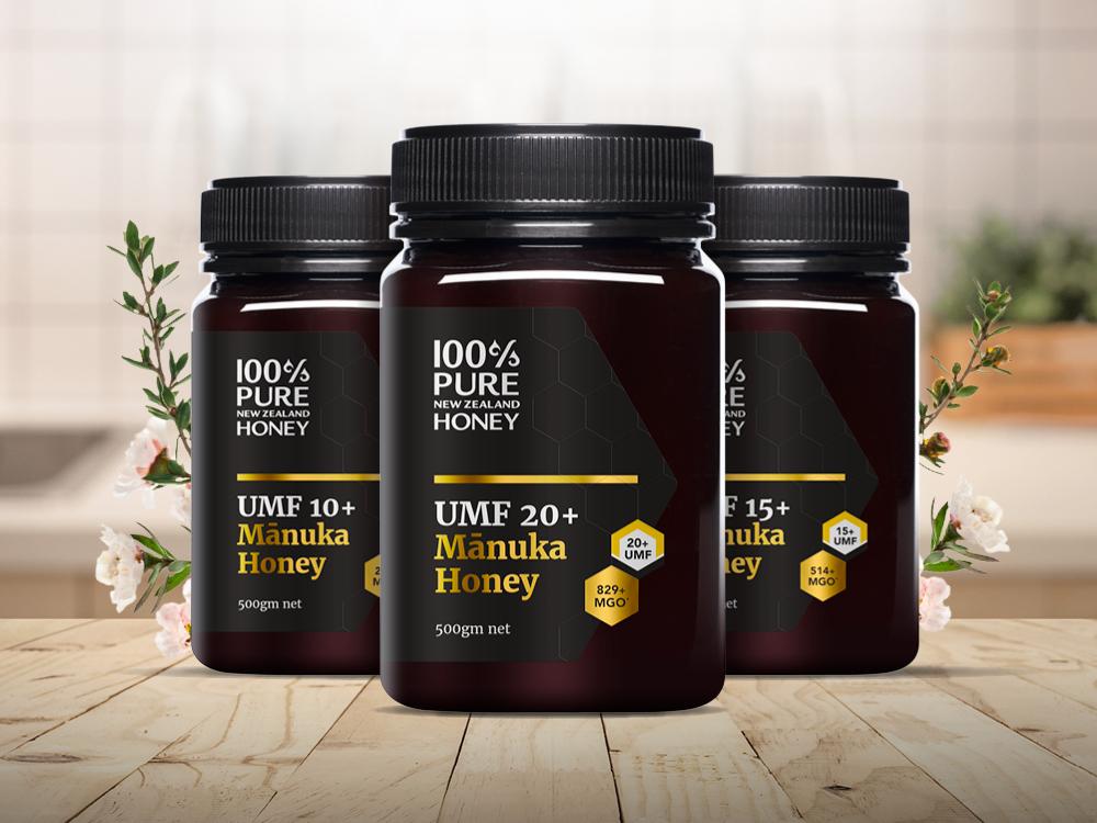 100% Pure New Zealand Honey's Manuka honey range